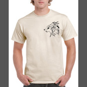 Gray Wolf (Canis Lupus) - Men's 'Gildan' Regular Fit Sturdy Cotton T Shirt