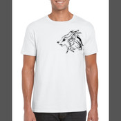 Gray Wolf (Canis Lupus) - Men's 'Gildan' Slim T-Shirt