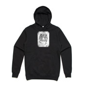 WHITE TIGER - Unisex Stencil Boutique Hoody by 'As Colour '