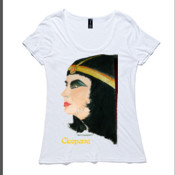 Cleopatra - Women's Shutter Boutique Scoop T Shirt by 'As Colour '