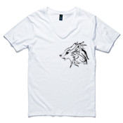 Gray Wolf (Canis Lupus) - Men's Tarmac Boutique V Neck T Shirt by 'As Colour '